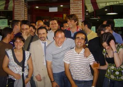 2007 - Con el presidente Carlos Suárez en el aniversario de la Peña