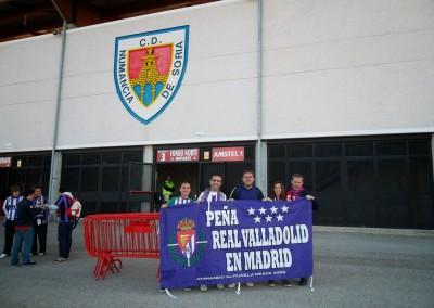 2012 - Frente al Estadio de Los Pajaritos de Soria