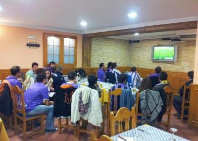 2012 - Partido contra el Deportivo de La Coruña en el Bar El Burgalés