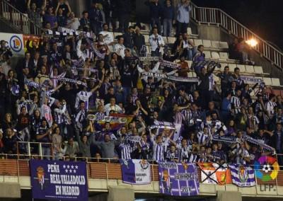2013 - Afición pucelana en el Estadio de Vallecas