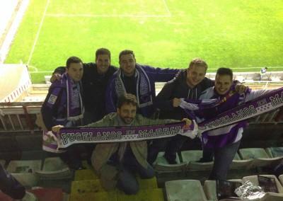 2013 - Peñistas en el Estadio de Vallecas
