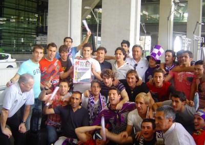 2007 - Recibimiento al equipo en Barajas tras el ascenso