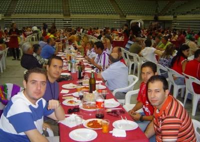 2008 - Comida en el VIII Congreso Nacional de Peñas en Murcia