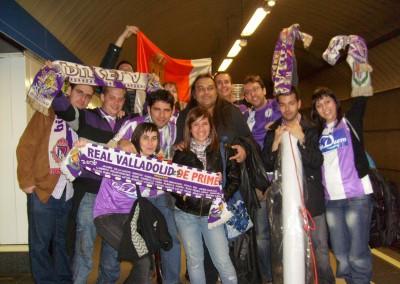 2009 - En el metro camino del Bernabéu