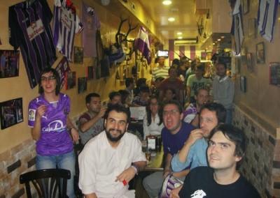 2009 - Animando al Pucela desde Madrid