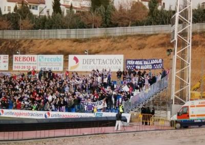 2012 - Con la afición en el Estadio Pedro Escartín de Guadalajara