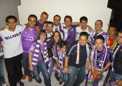 2012 - Con Javi Baraja y Marc Valiente tras la victoria de playoff en Alcorcón