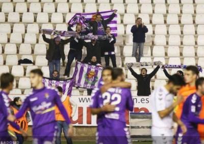 2015 - Celebrando el gol de la victoria en el Carlos Belmonte de Albacete