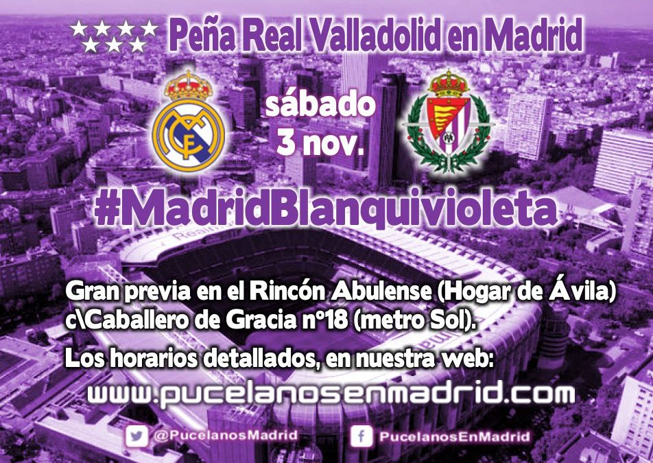 Previa Real Madrid – Real Valladolid